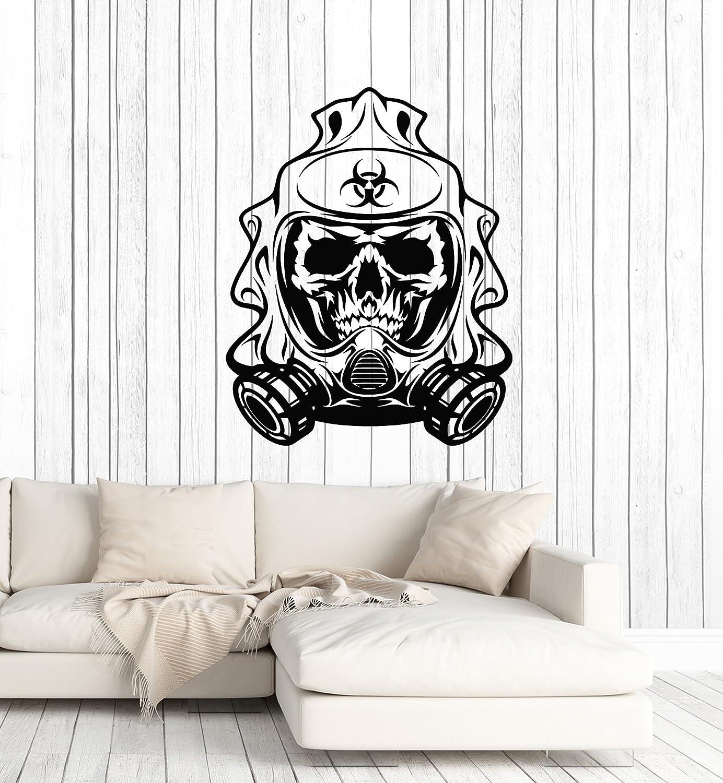 Vinyl Wall Decal Biohazard Skull Gas Mask Room Decoration Art Stickers Mural Large Decor (ig5622)
