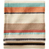 Pendleton Cotton Jacquard Coral Chimayo Blanket, Queen