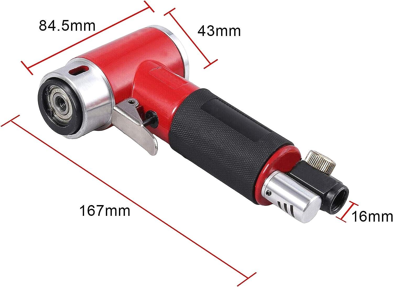 ZXYAN Mini Amoladora Angular Amoladora neum/ática Lijadora neum/ática Amoladora con 2 Almohadillas 50 mm 75 mm