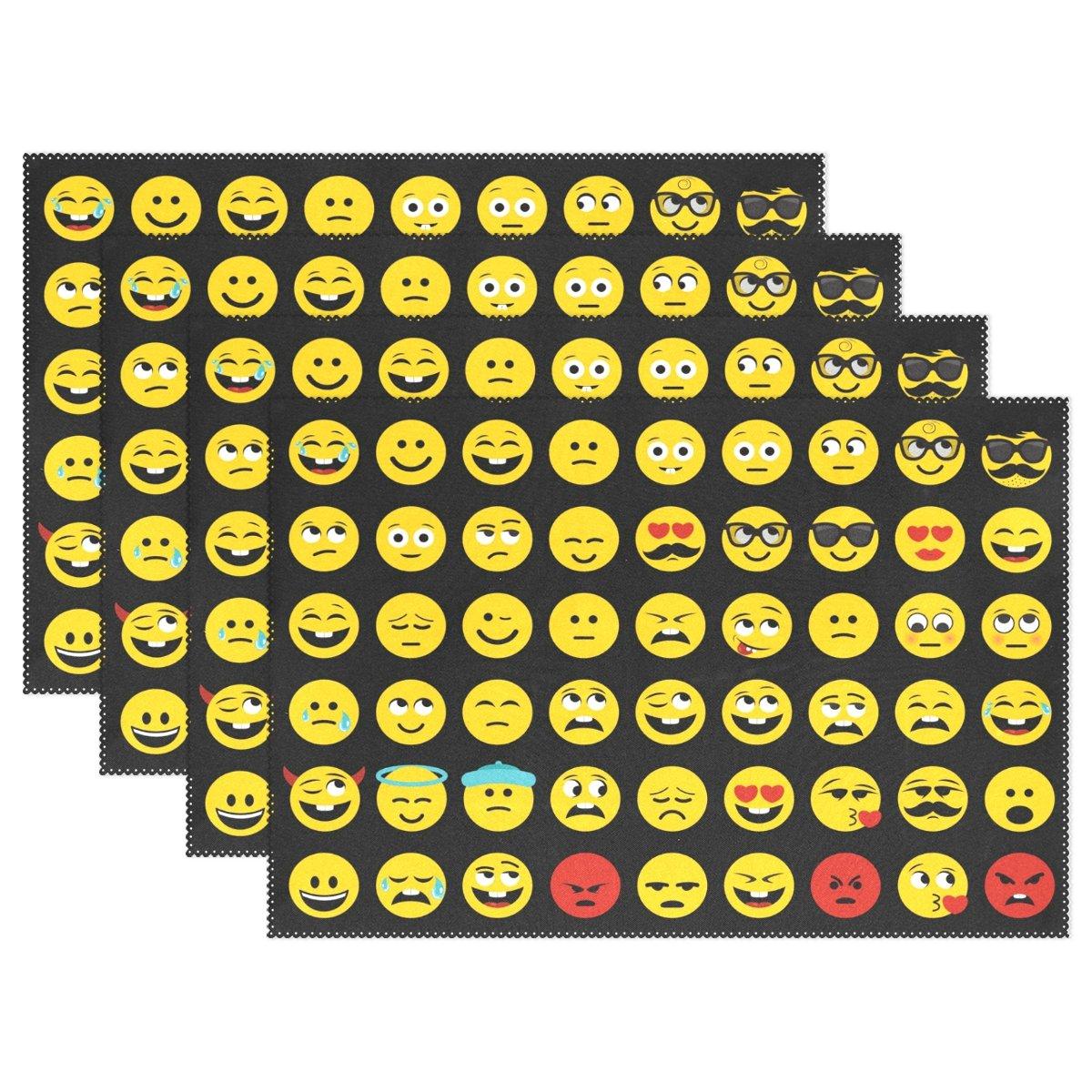 Wozo Funny Emotion絵文字プレースマットテーブルマット12