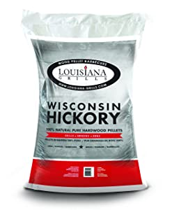 Louisiana Grills 55406 Wisconsin Hickory Pellets, 40-Pound