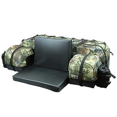 ATV TEK Arch Series Oversized Rear Rack Utility Pack, Padded ATV Cargo Bag - Kings Mountain Shadow Camo: Automotive
