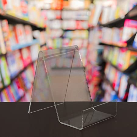 EPOSGEAR Small Plastic Acrylic Perspex Book Plate Retail Display New Book Display Stand Uk