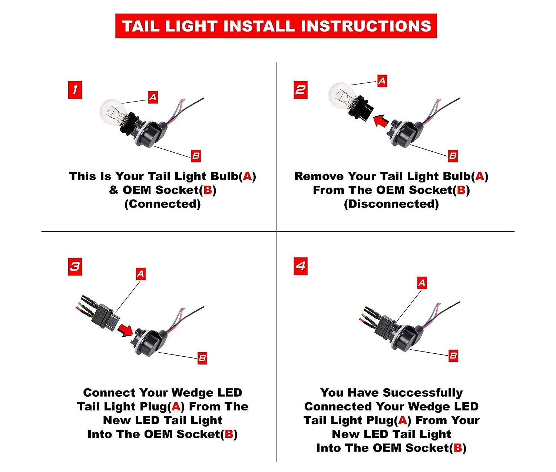 Ajp Distributors Led Tail Lights Lamps Upgrade For Dodge Wiring Guide P U Ram 1500 2500 3500 Chrome Automotive