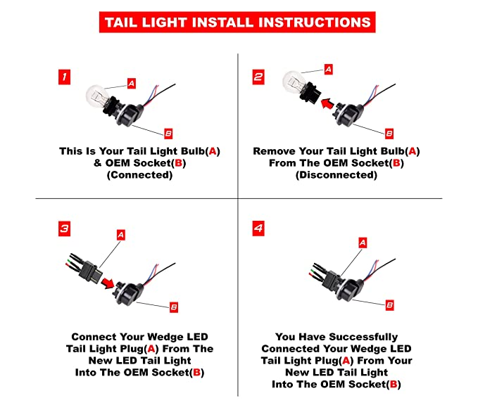 Astounding Amazon Com Ajp Distributors Led Tail Lights Lamps Upgrade For Dodge Wiring Cloud Staixuggs Outletorg