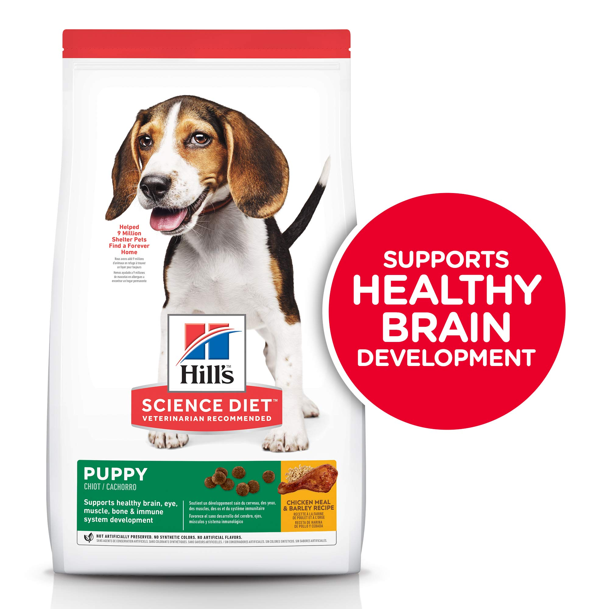 Hill's Science Diet Dry Dog Food, Puppy, Chicken Meal & Barley Recipe, 30 lb Bag by Hill's Science Diet