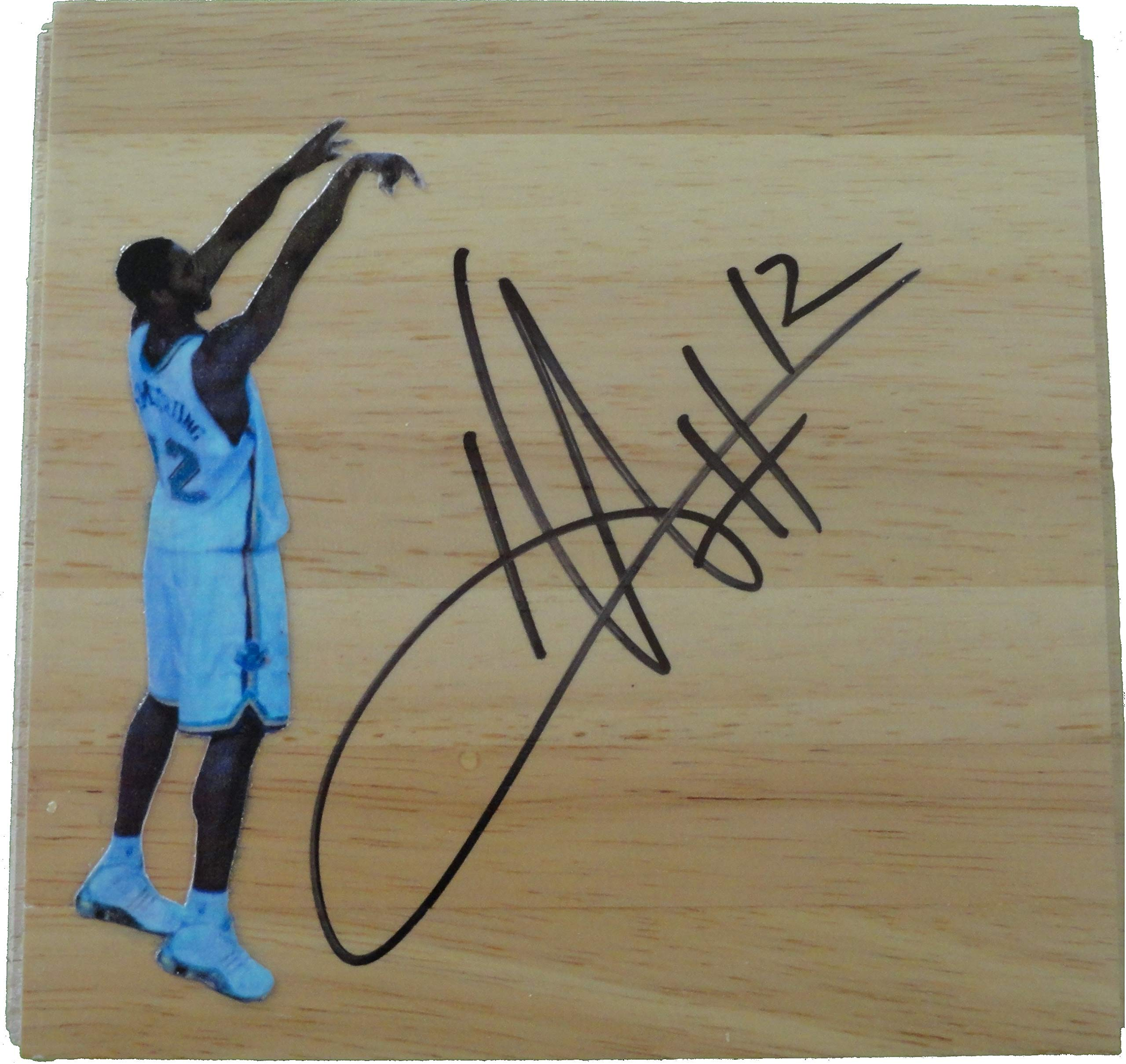 New Orleans Hornets Hilton Armstrong Autographed Hand Signed 6x6 Parquet Photo Floorboard with Proof Photo of Signing and COA Basketball Floor Boards
