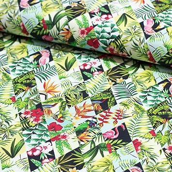 Stoff Dekostoff Digitaldruck Dekostoff Mali Tropische Blumen ...