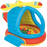 Bestway Children's Inflatable Helicopter Ball Pit, Includes 50 Balls (BW52217)
