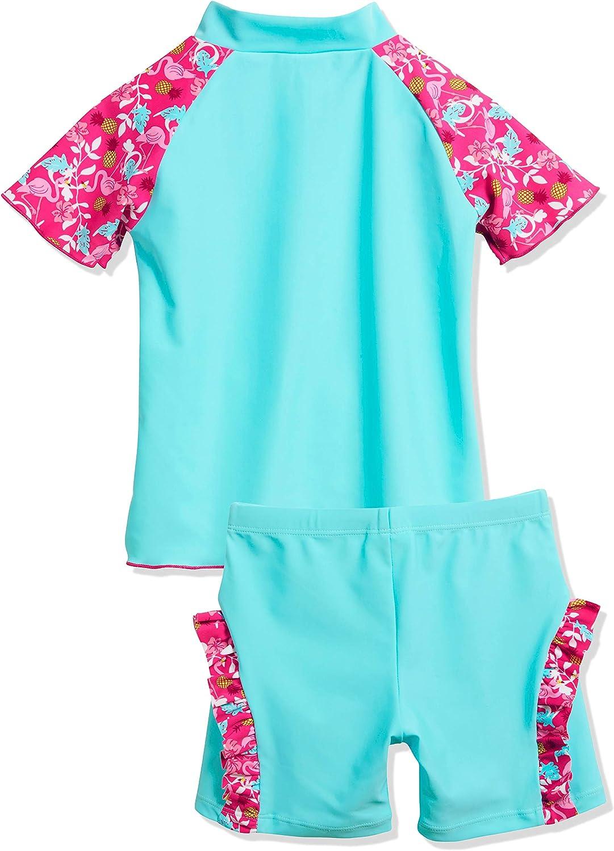 Playshoes Girls UV Sun Protection 2 Piece Flamingo Swim Set