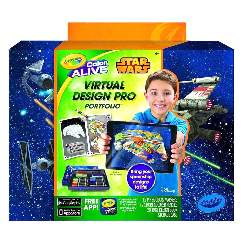 Crayola Color Alive Star Wars Virtual Design Pro Portfolio Amazoncouk Toys Games