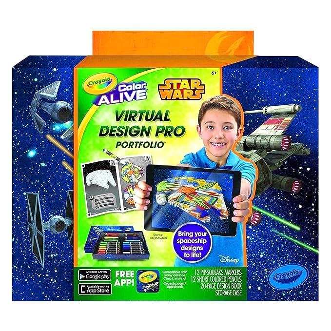 amazon com crayola star wars color alive virtual design pro
