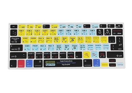 timeless design a2abd 9e779 Saco Serato DJ Functional Hot Key Shortcut Rubber Keyboard Skin Cover for  MacBook Pro Air Retina 13 15 17 and Wireless Bluetooth Keyboard MC184LL B  ...