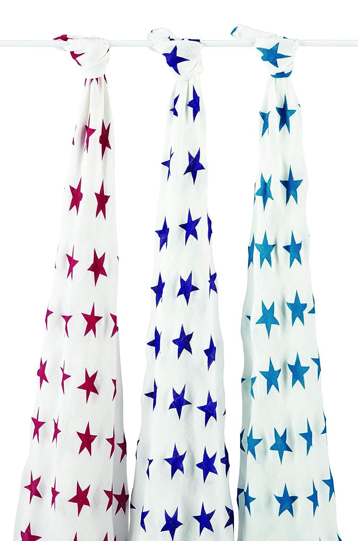 aden anais Celebration 3er Pack Musselin aus 100/% Bambusfaser 120cm X 120cm silky soft Pucktuch