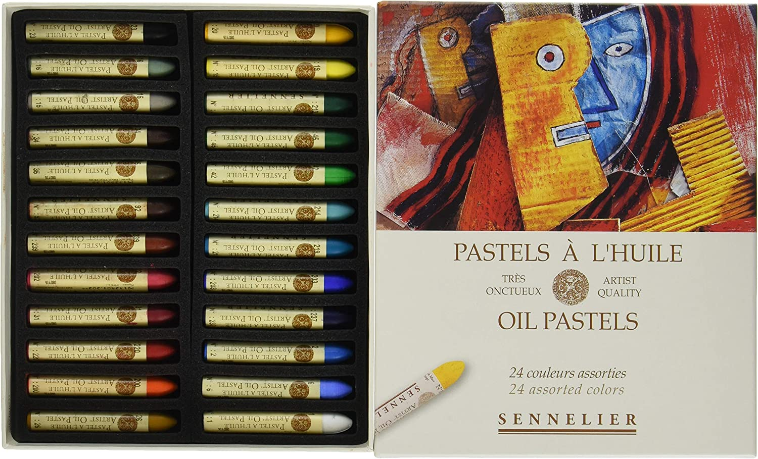 Savoir-Faire 32520240 Sennelier Oil Pastels Set 24/Pkg-Assorted 81ZPrF7s8EL