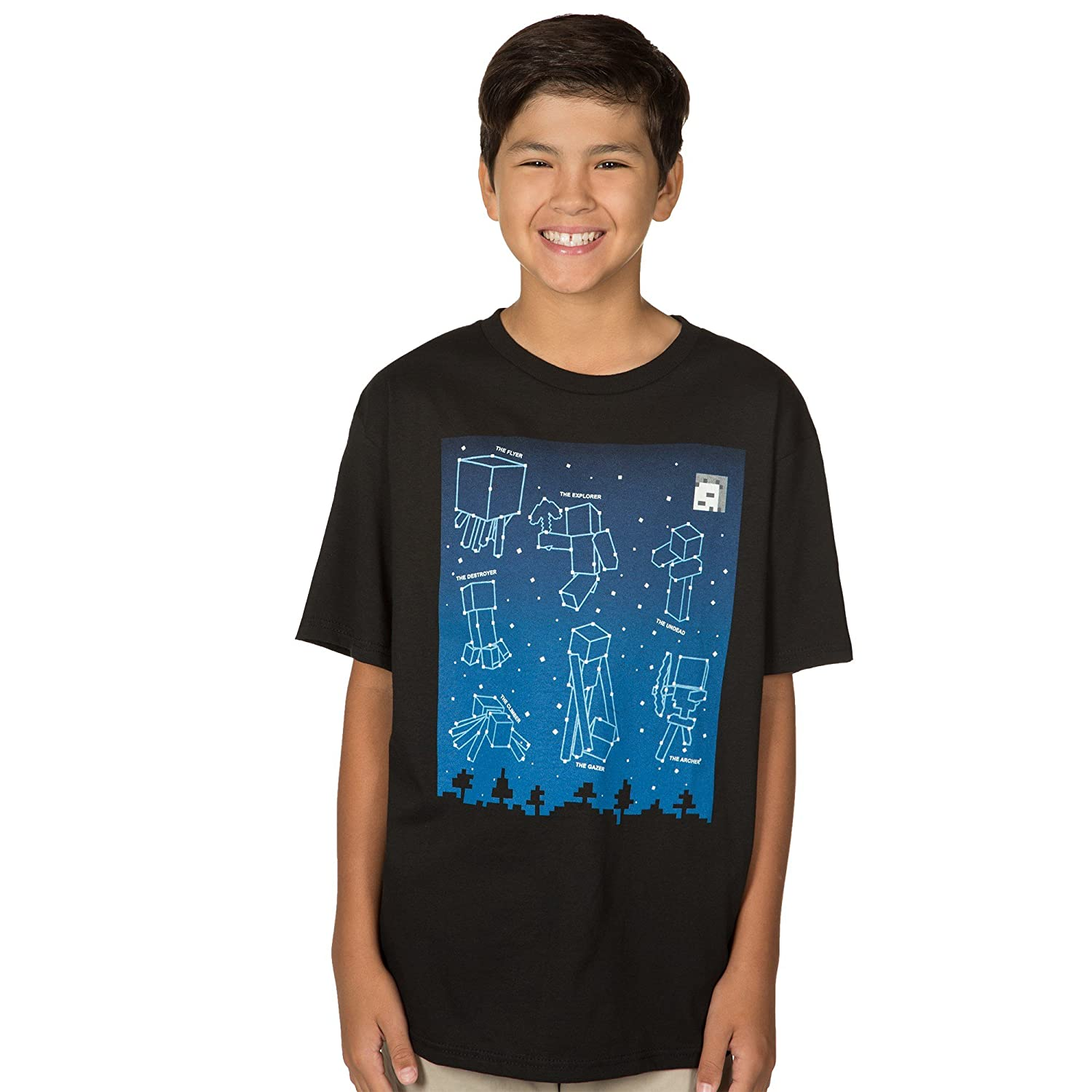 Amazon jinx minecraft big boys glow in the dark amazon jinx minecraft big boys glow in the dark constellations t shirt clothing gamestrikefo Image collections