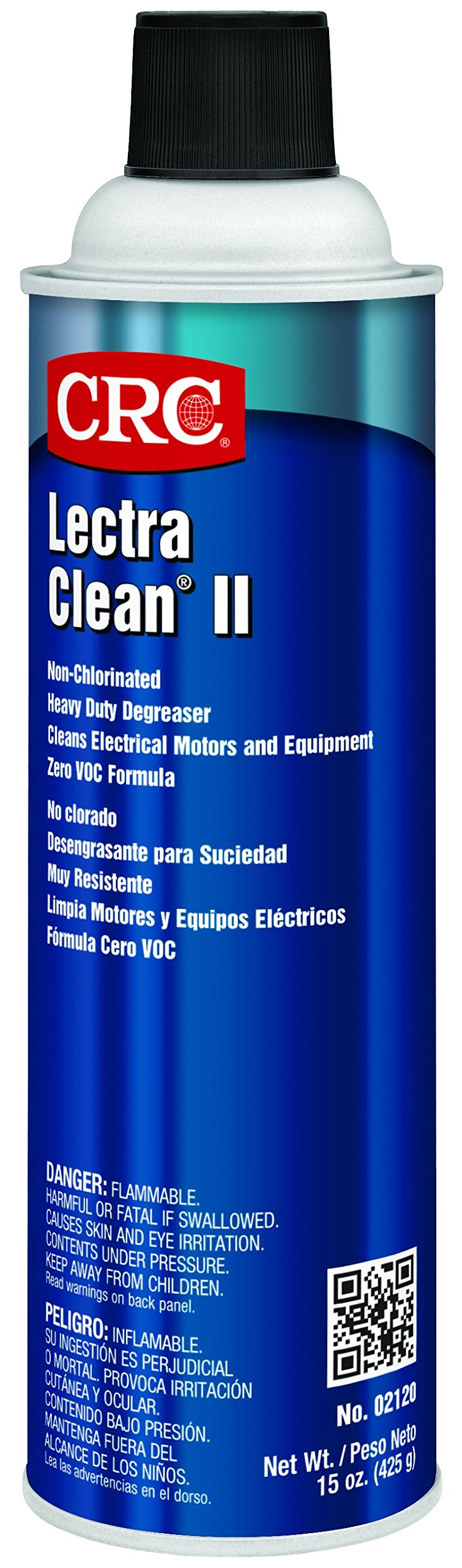 CRC Lectra Clean II Non-Chlorinated Heavy Duty Liquid Degreaser, 15 oz Aerosol Can, Clear
