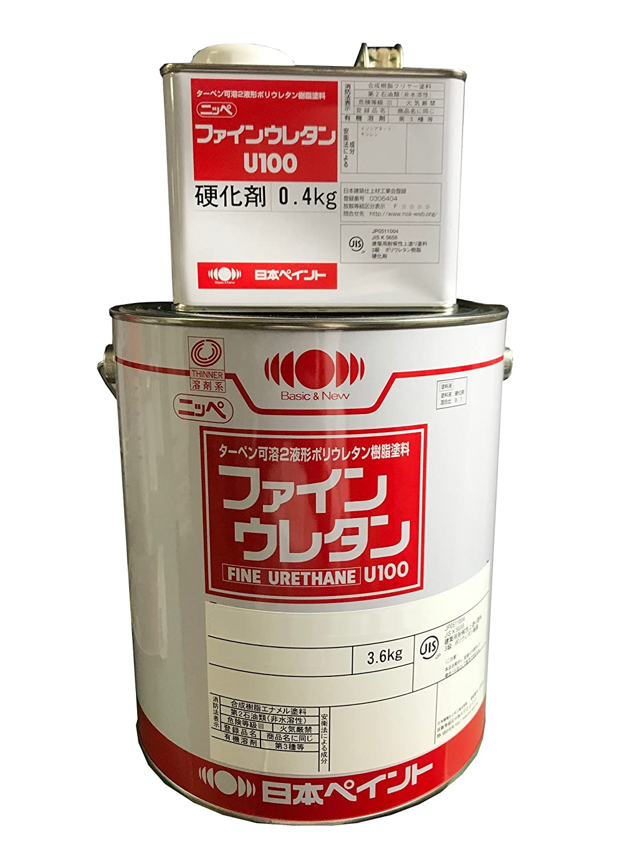 日本ペイント ファインウレタンU100 4kg (NP-FineUrethaneU100-35-70H-4KG) B0785D311G