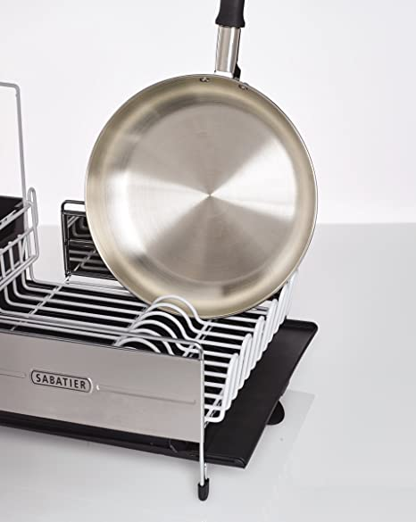 Sabatier 40 Expandable Stainless Steel Dish Rack With Rust Extraordinary Sabatier Expandable Dish Rack With Soft Touch Coating