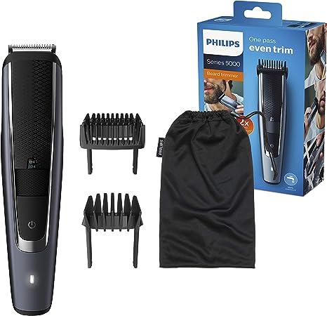Philips BEARDTRIMMER Series 5000 BT5502/15 cortadora de pelo y maquinilla Negro Recargable - Afeitadora (Negro, 0,4 mm, 2 cm, 90 min, Batería integrada, AC/Batería): Amazon.es: Salud y cuidado personal