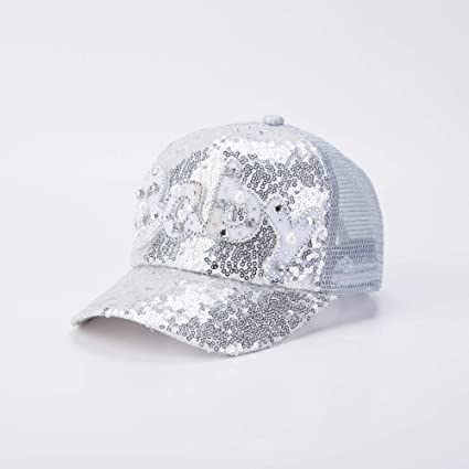 8d186e3dc94add Image Unavailable. Image not available for. Color: TreeMart ren Snapback  Bone Sequins Mesh Baseball Cap s Baby Hats for Girls Boys ...