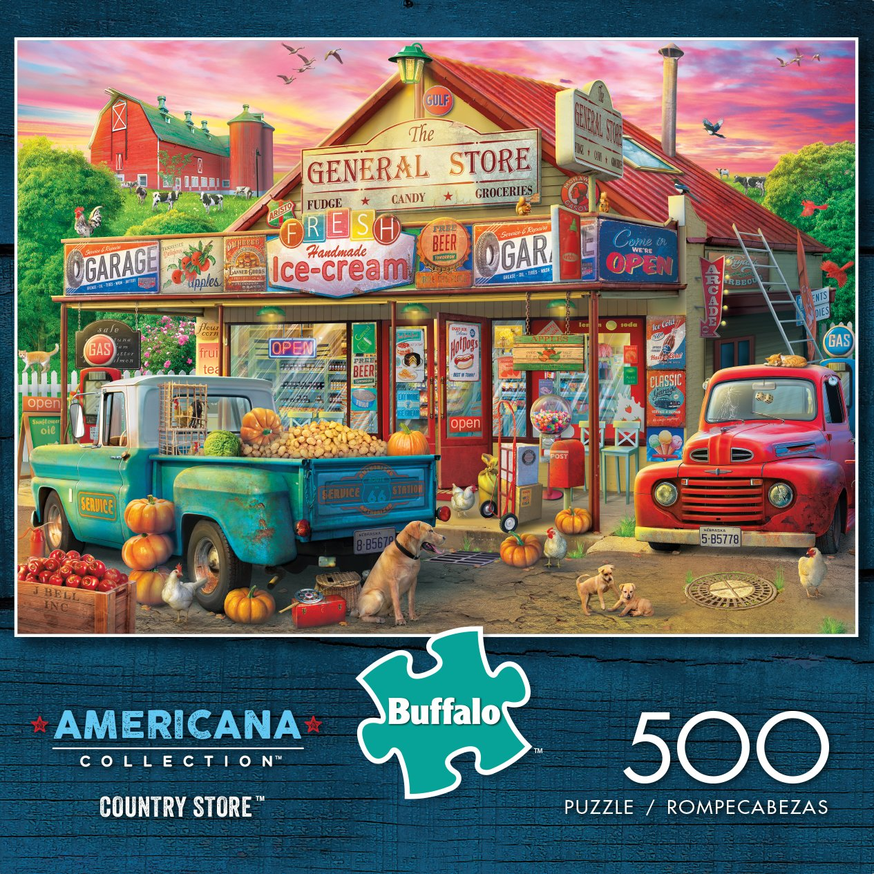 Buffalo Games - Americana Collection - Country Store - 500 Piece Jigsaw Puzzle by Buffalo Games (Image #2)