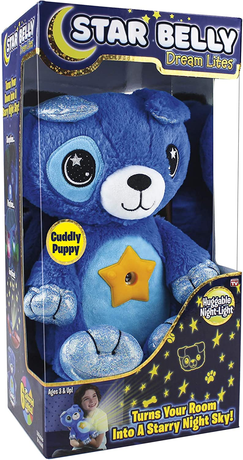 Ontel Star Belly Dream Lites, Stuffed Animal Night Light, Cuddly Blue Puppy: Health & Personal Care