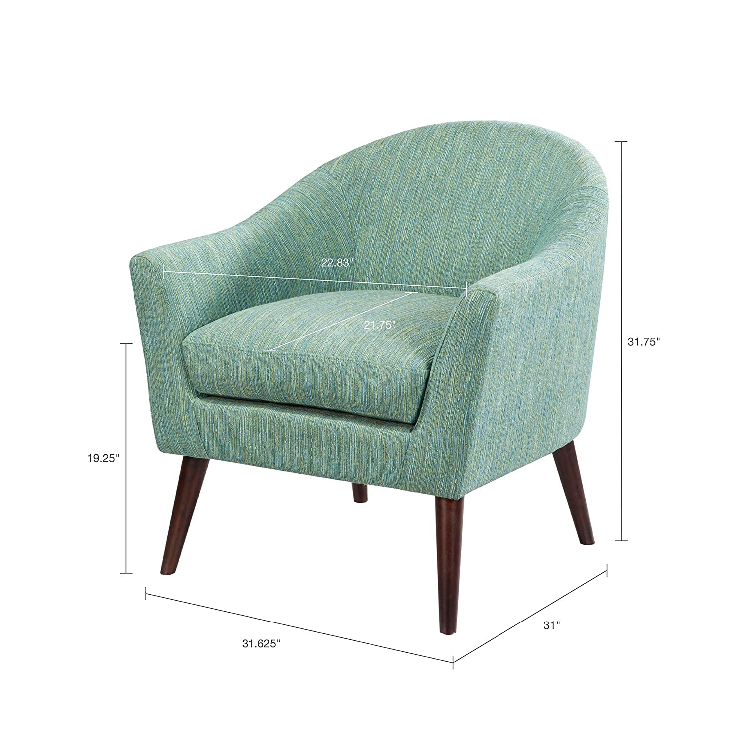 Madison park grayson accent chairs hardwood birch textured fabric living room chairs pale green modern classic style living room sofa furniture 1