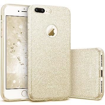 esr Funda iPhone 7 Plus, Funda Case Carcasa Dura Brillante Brillo Purpurina llamativa para Apple iPhone 7 Plus - Oro