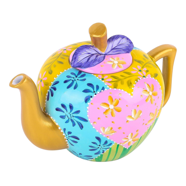 Acquisto Artvigor Teiere Caffettiere Caraffe per tè e Caffè in Porcellana Ceramica Mela Set da Caffè tè per una Persona Colori Misti Oro Rosa Giallo Azzurro 1000ml Prezzi offerta