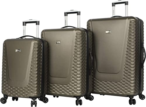 Steve Madden Hard Case 3 Piece Spinner Suitcase Set Collection One Size, Antics Olive