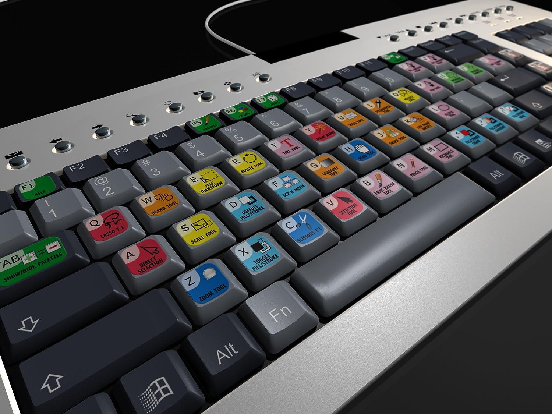 Juego de pegatinas de teclado Adobe Ilustradora americana ...