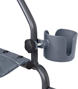Medline Universal Cup Holder for Rollator Walkers, Transport Chairs, and Wheelchairs, Gray