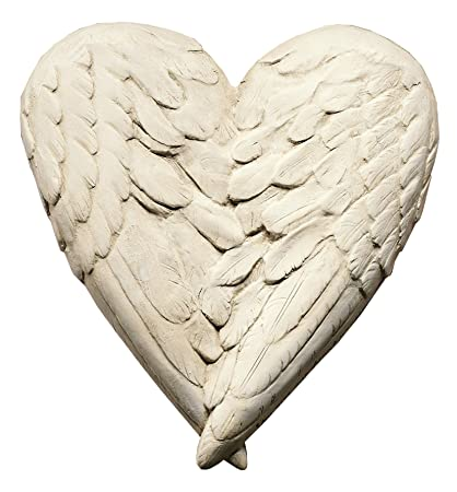 amazon com angel wings heart wall sculpture statue www neo mfg com rh amazon com angel wings with heart tattoo meaning angel wings with heart tattoo meaning
