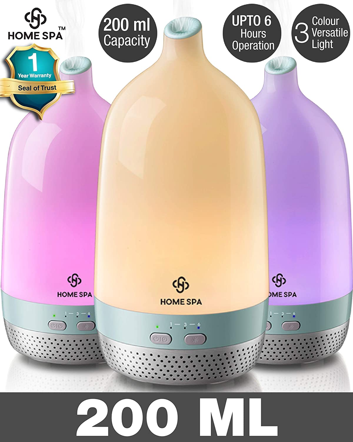 Dr. Trust Home Spa Luxury Cool Mist Aroma Oil Diffuser and Humidifier