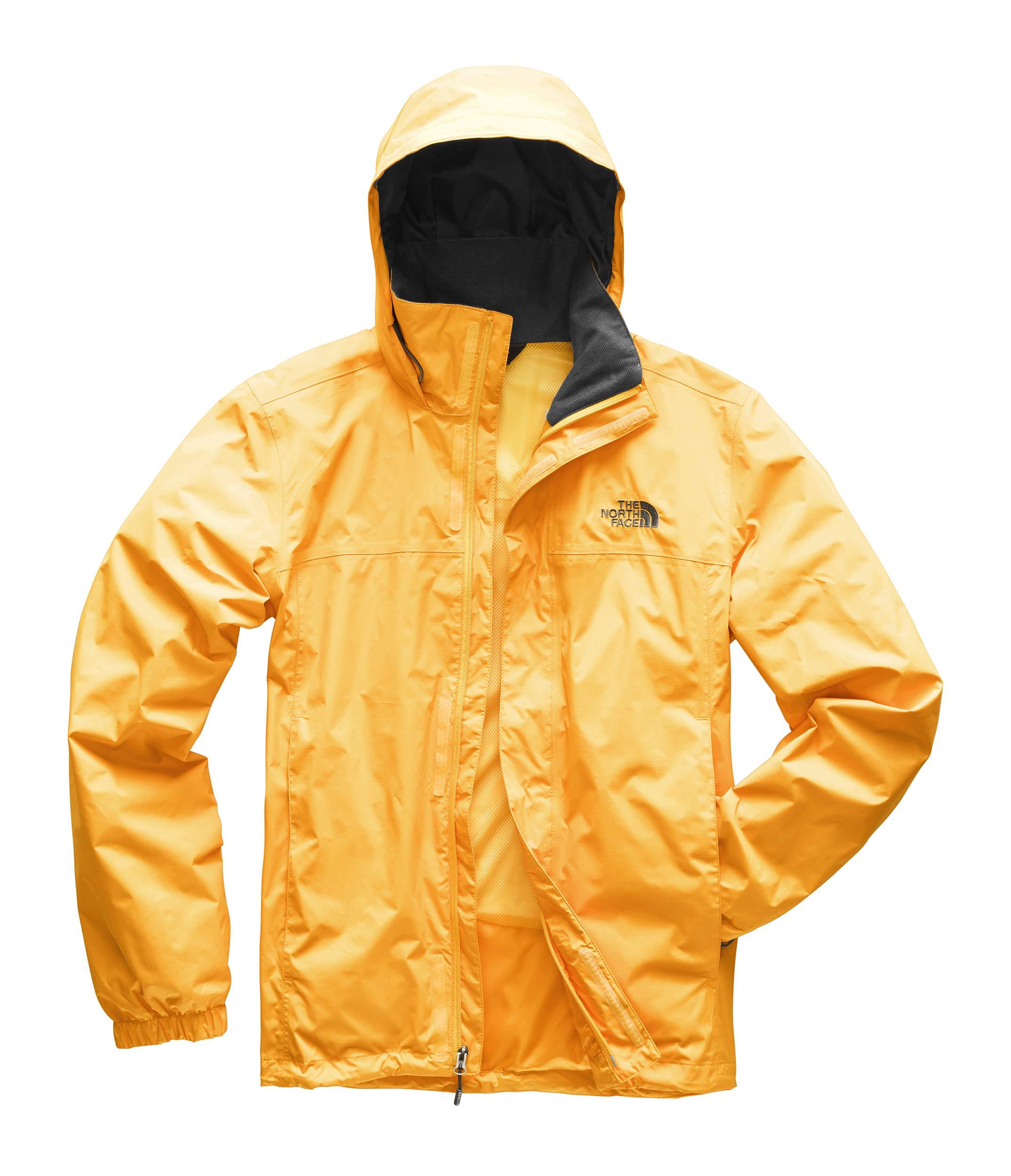 The North Face Men's Resolve 2 Jacket, TNF Yellow/Asphalt Grey, Medium