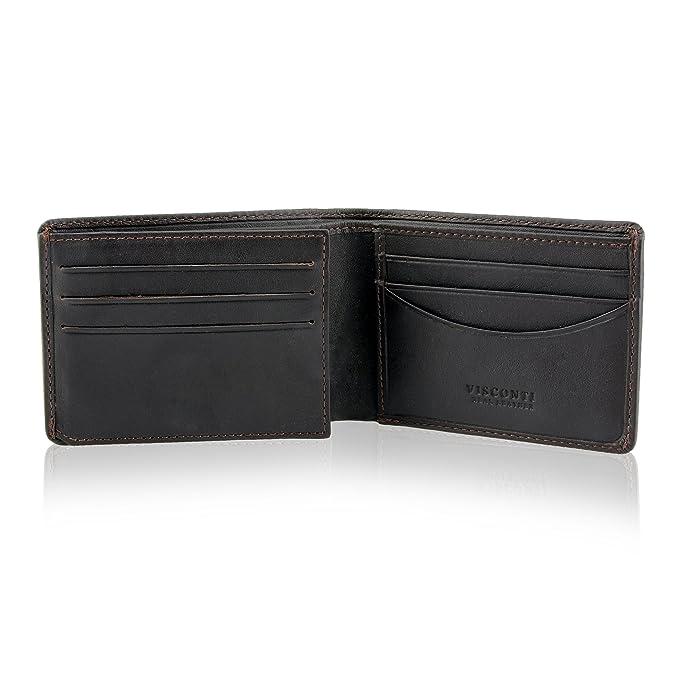 Amazon.com: Visconti Thin RFID Multi Card Compact Leather ...