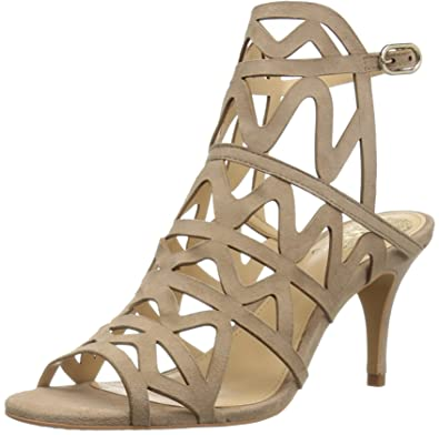 Vince Camuto Womens Prisintha Suede Open Toe Special Almond Beige Size 60