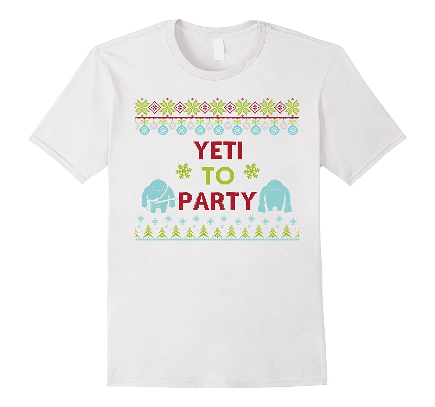 Yeti To Party Ugly Christmas Sweater Style Office Party-FL