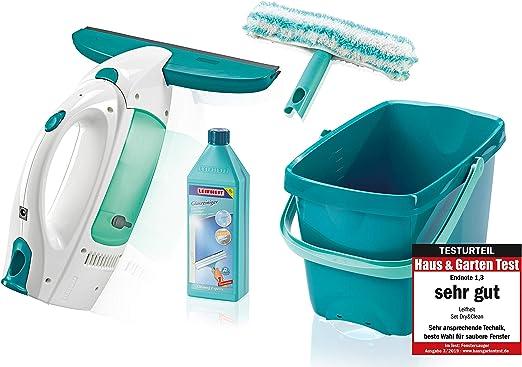 Leifheit Dry&Clean Aspirador Limpiacristales con Cubo, Blanco y ...