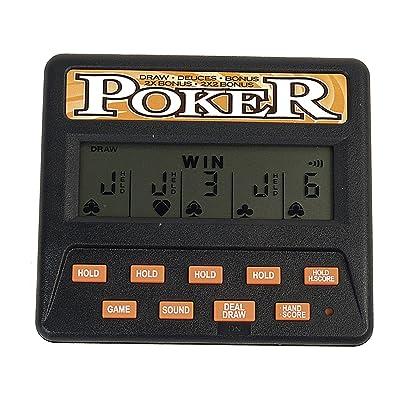 John N. Hansen Classic 5-in-1 Poker Electronic Games: Toys & Games