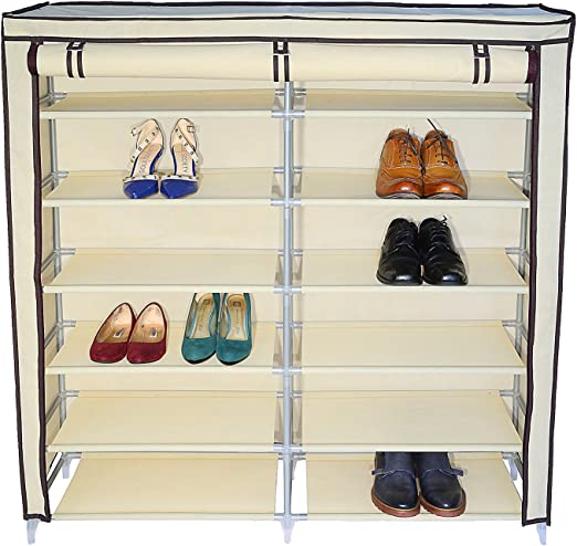 2 x Shoe Storage Organiser Rack Underbed Boot Holder Stackable Box 24 Pairs Unit