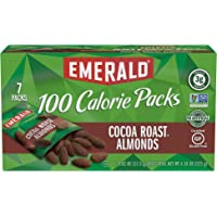 Emerald Nuts, Cocoa Roast Almonds 100 Calorie Packs, 7 Count (Pack of 12)