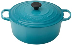 Le Creuset Signature Enameled Cast-Iron 7-1/4-Quart Round French (Dutch) Oven, Caribbean
