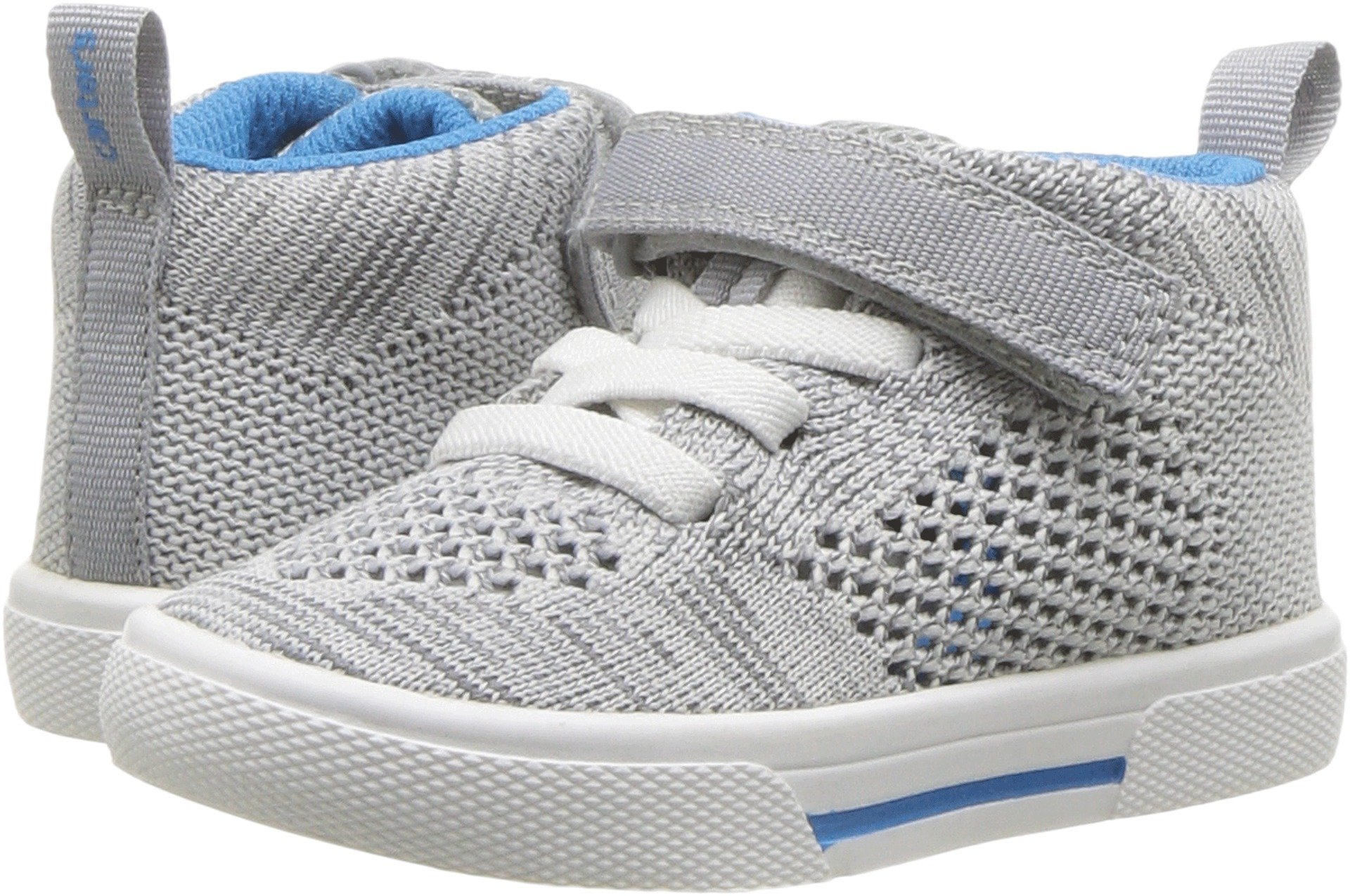 Carter's Boys' Knight High-Top Sneaker, Grey, 7 M US Toddler