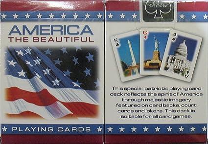 Amazon Com America The Beautiful Playing Cards 6 Decks