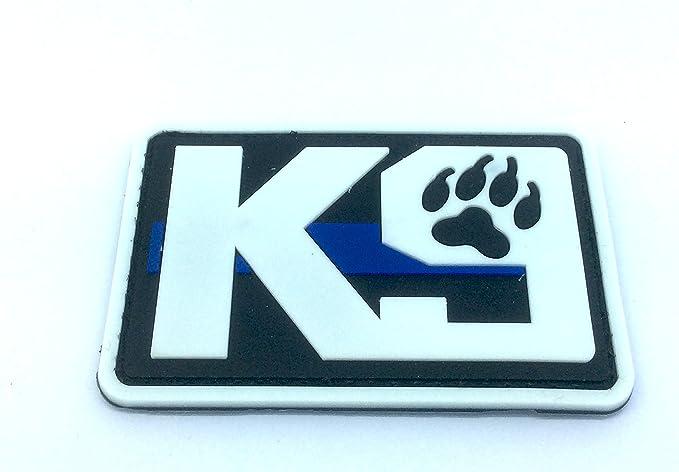 K9/delgada l/ínea azul Polic/ía Perro para Airsoft y Paintball PVC parche de moral