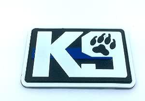 K9 delgada línea azul Policía Perro para Airsoft y Paintball PVC parche de moral, Glow in the Dark, 80mm x 50mm: Amazon.es: Deportes y aire libre