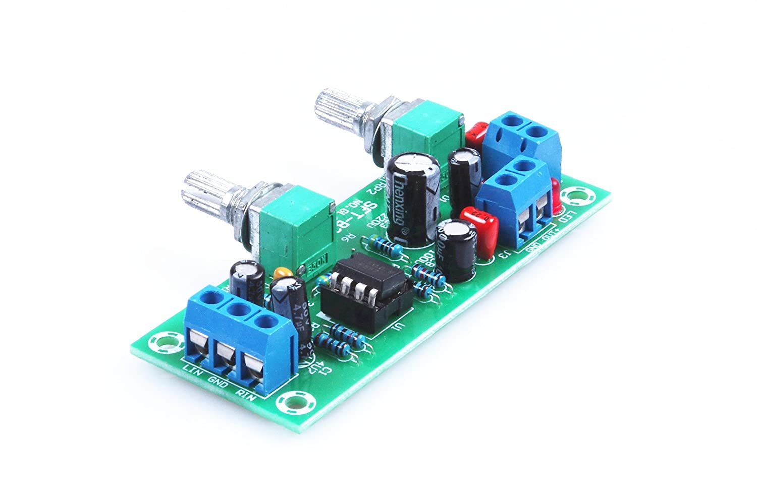 Knacro Dc 10v 24v Low Pass Filter Ne5532 Bass Tone Lowpass Subwoofer Frequency Circuit Board Opamp Chip Pre Amplifier Preamp Home Audio Theater
