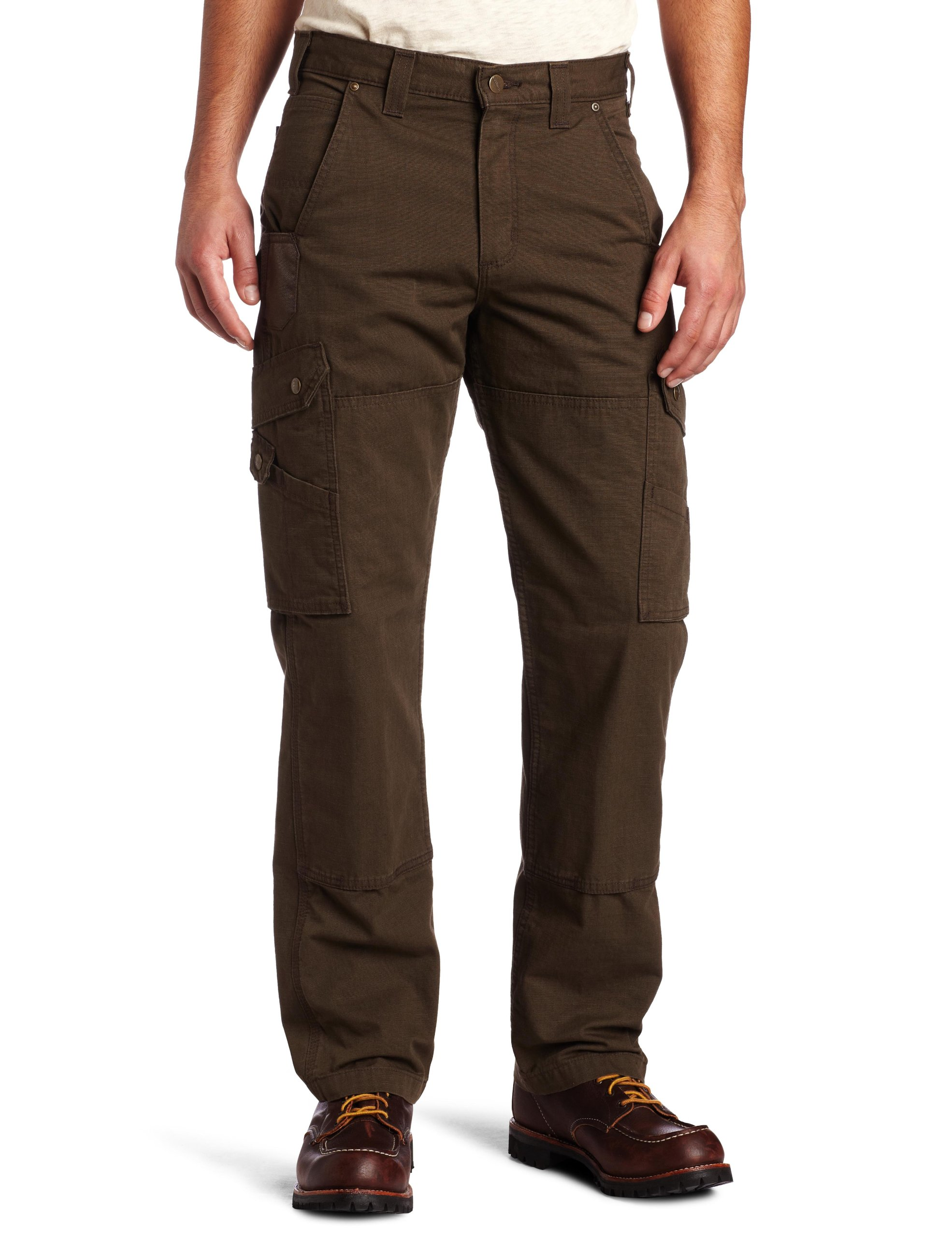 Carhartt Men's Cotton Ripstop Relaxed Fit Work Pant,Dark Coffee,34 x 30